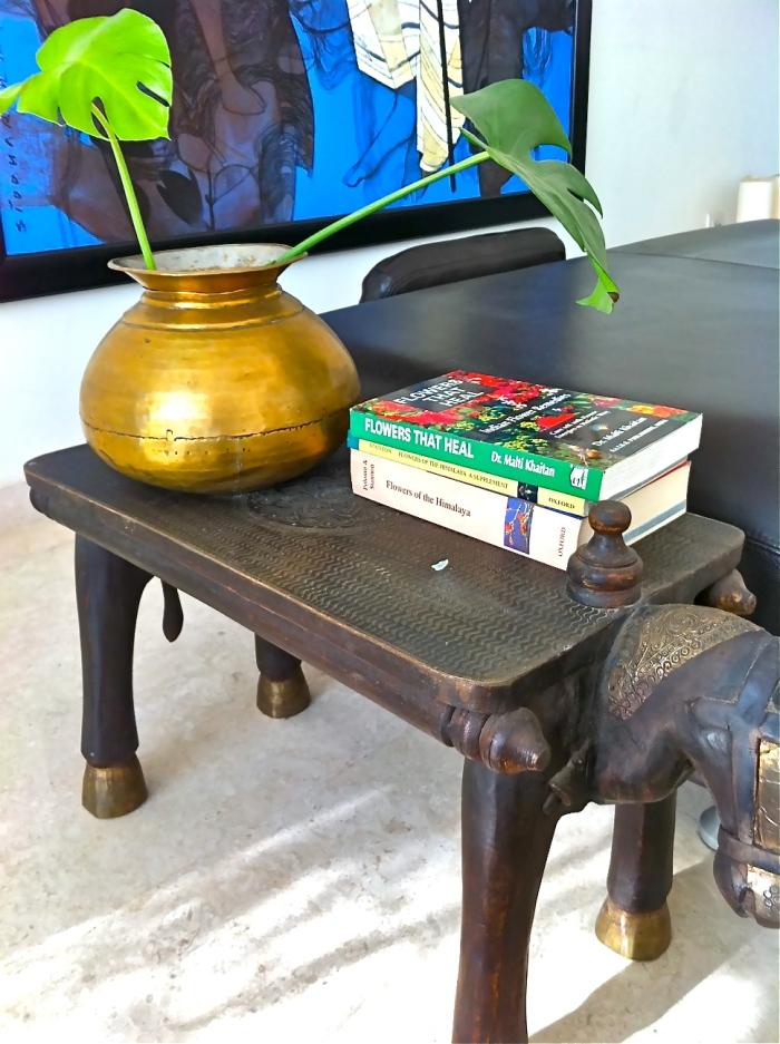 antique brass urn, old cooking utensils, interior decor ideas
