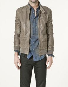 Zara, sheep skin jacket for men