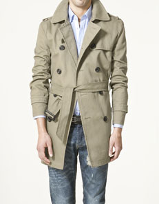 Zara, Trench coat for men