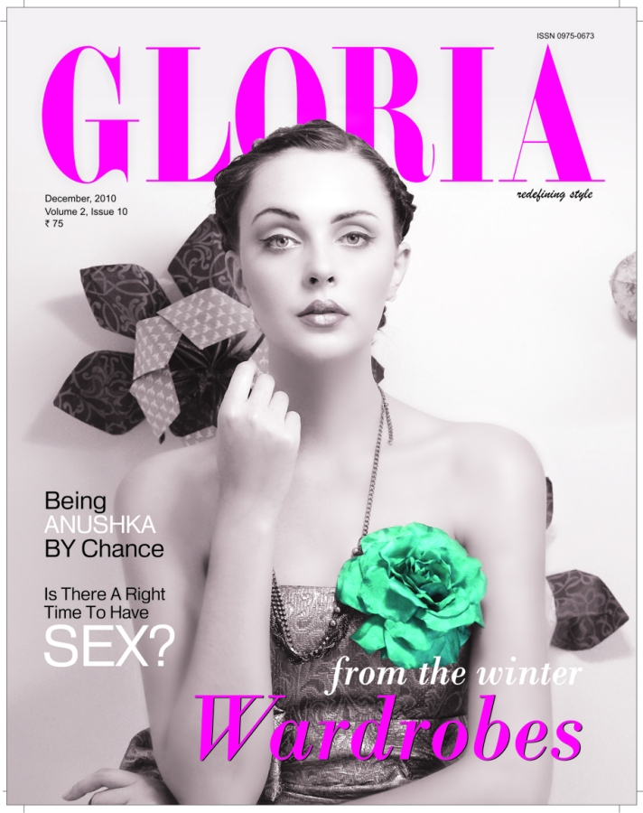 Gloria Magazine December 2010 cover shoot - Styling Payal Jaggi, Art Direction Payal jaggi