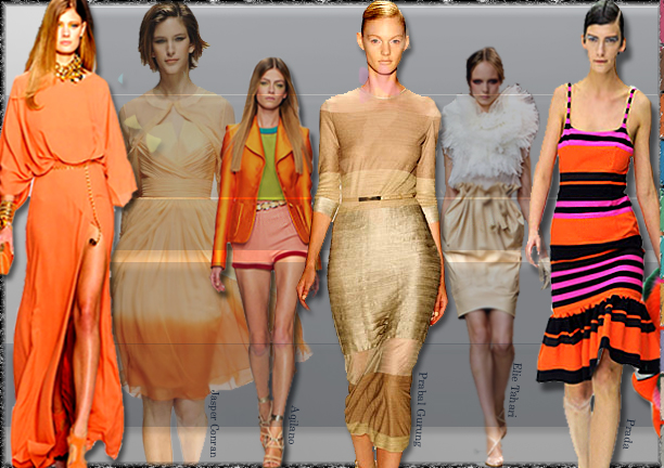 Spring Summer 2011 Color Trends, Color Themes 2011, Runway Looks 2011