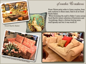 couches good earth, linen sofa, chintz fabric India, Chintz print sofa, Linen living room Sofa