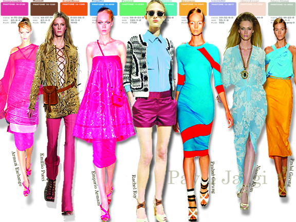 Spring summer 2011 top color trends, color trends in India