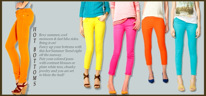 Colored Jeans, How to wear Colored Jeans, Buy Colored Denim