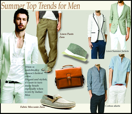 Mens Spring Summer 2011 trend, mens fashion trends, summer linens for men, zara men, European style dressing for men