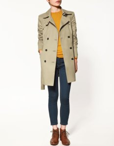 Short Trench Coat , Zara, India buy trench Coat