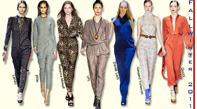 Fall winter 2011 Fashion Trends, Fall winter Jumpsuits, Winter Jumpsuits India, Fall Winter Trends India