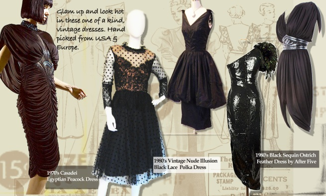 Vintage wear in India, Buy Vintage dresses online India, 1920's Dresses India, 1930's Fashion, 1940's Fashion, Flapper Dresses India, Wiggle Dresses India, Vintage Black Dress, Unique dresses, One of a kind Fashion