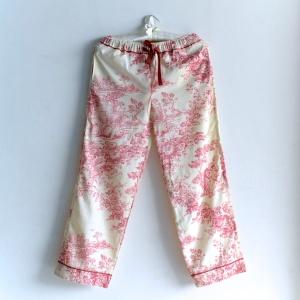 toile print womenswear, women pajamas, toile print, cotton pajamas for ladies, night wear for women, designer nightwear for women