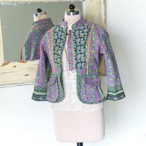 Vintage Jacket made of Kantha Fabric