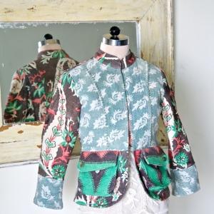Vintage kantha Jacket for women
