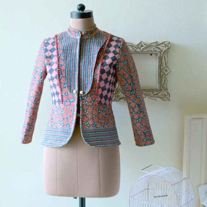 Women Short Jackets Online India, Women Fashion India, Women Coats India, Pink Jacket with Black Check
